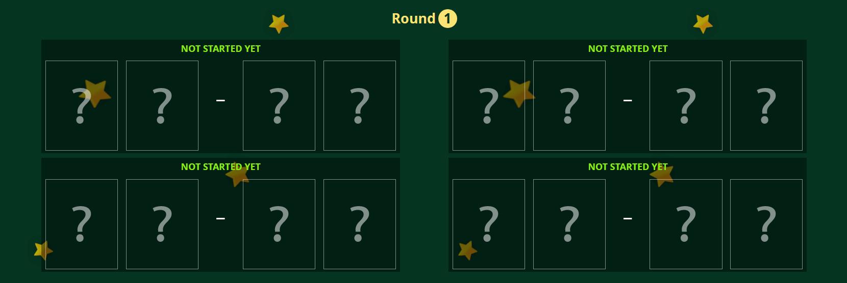 Tournament Round 1
