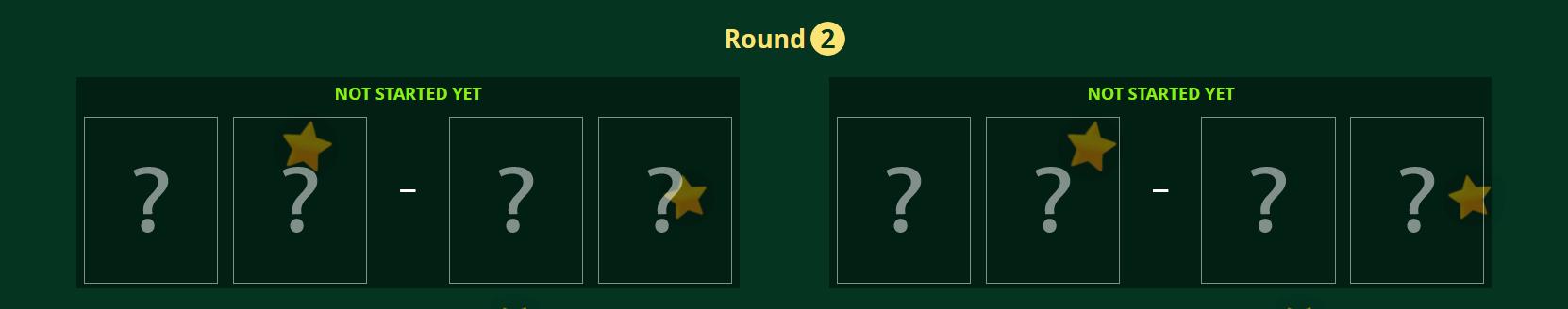 Tournament Round 2