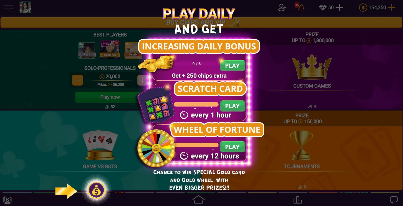 Free coins at VIP Spades