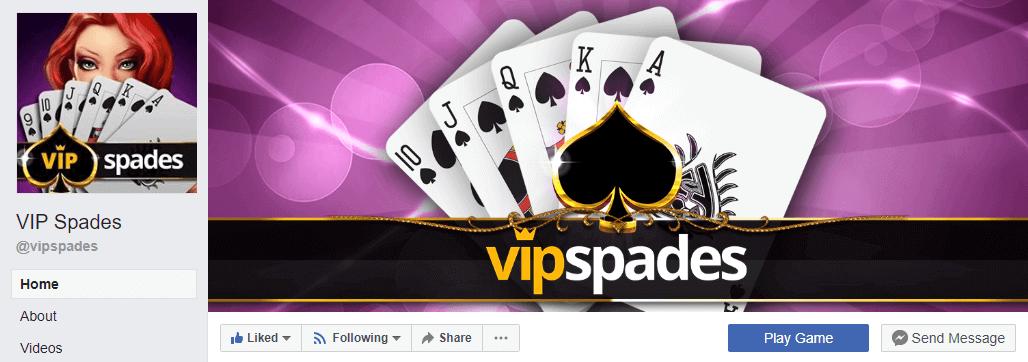 VIP Spades Facebook Page